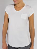 JoFit Ladies Velocity Fitness Tees - Sangria (White)