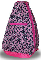 NTB Ladies Tennis Backpack - Mila (Pink & Navy Knot)