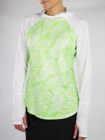 JoFit Ladies Spectrum Long Sleeve Tennis Tops - Mai Tai (Honeydew Palm)