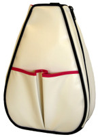 40 Love Courture Ladies Sophi Tennis Backpacks -White Faux Leather with Pink Lining