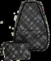 40 Love Courture Ladies Elizabeth Tennis Backpacks - Black Plaid Faux Leather With Black Lining