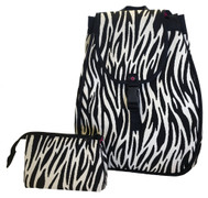 40 Love Courture Ladies Maddie Tennis Backpacks - Zebra with Pink lining