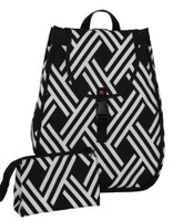 40 Love Courture Ladies Maddie Tennis Backpacks - Modern Weave with Pink Lining