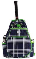 Ame & Lulu Ladies Kingsley Tennis Backpacks - Parker Plaid