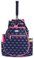 Ame & Lulu Ladies Kingsley Tennis Backpacks - Match Point (Navy & Pink)