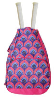 All For Color Ladies Tennis Backpacks - Bali Blooms (Pink & Blue)