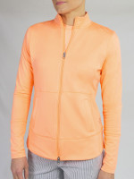 JoFit Ladies & Plus Size Nexus Tennis Jackets  - MADRAS (Papaya)