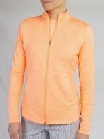 JoFit Ladies & Plus Size Nexus Tennis Jackets  - MADRAS (Papaya)