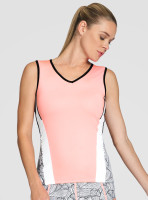 Tail Ladies & Plus Size Sterling Sleeveless Tennis Tank Tops - TAFFY (Taffy w/ Black, White & Folia Print)