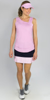JoFit Ladies & Plus Size Tennis Outfits (Tanks & Skorts) - BELLINI (Bloom Pink/Midnight Navy)