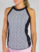 JoFit Ladies Baseline Sleeveless Tennis Tank Tops - BELLINI (Herringbone)