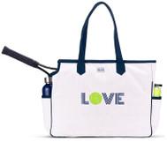 Ame & Lulu Ladies Love All Tennis Court Bags - Green Love