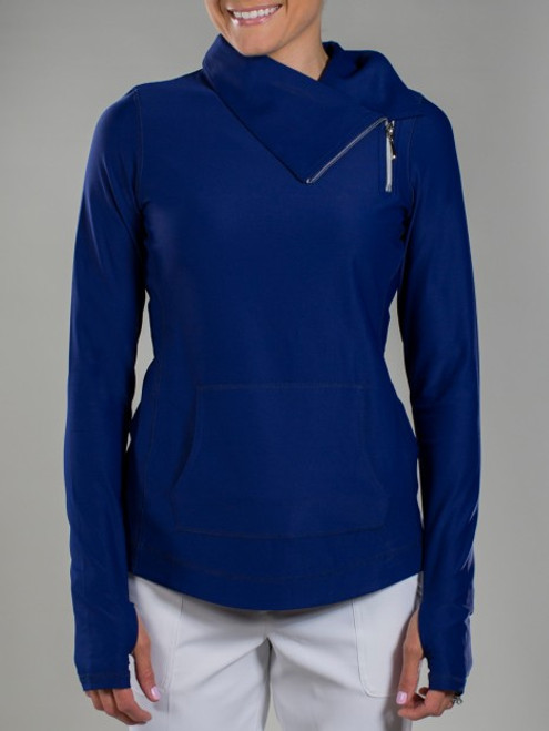 JoFit Ladies & Plus Size Jumper Tennis Jackets - Bali (Blue Depth)