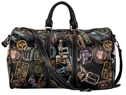Sydney Love Ladies Duffel Bags - Bon Voyage Passport Print