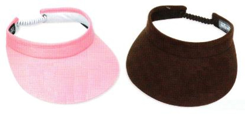 """Town Talk 3"""" Ladies Visors with Twist Cord - 18 Colors"""