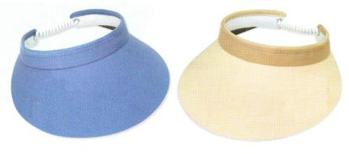 """Town Talk 4"""" Ladies Visors with Twist Cord - Assorted Colors"""