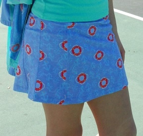 Turtles & Tees Junior Girls Christina Tennis Skort with Back Pleats - All Knotted Up