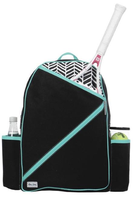 Ame & Lulu Ladies Brooks Tennis Backpacks - Black Shutters