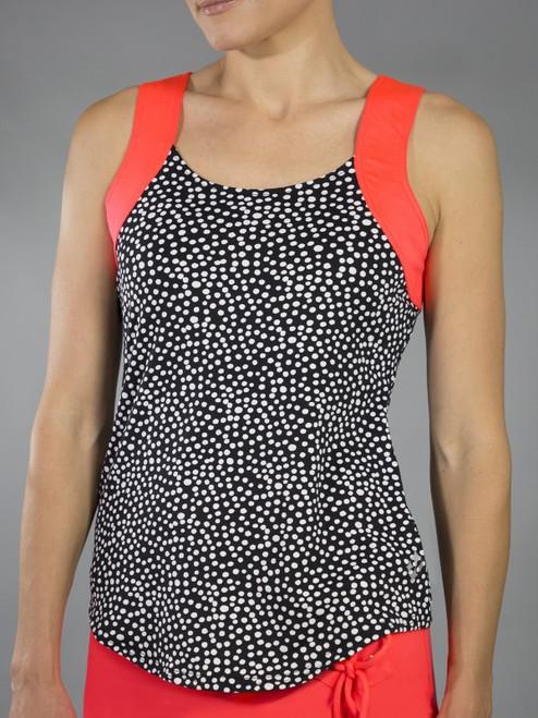 JoFit Ladies & Plus Size Lagoon Tennis Tank Tops - Daiquiri (Ink Spot)