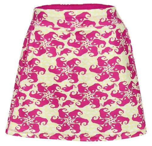 Turtles & Tees Junior Girls Tara Knit Pull On Tennis Skorts - Take a Swing Print