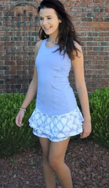 SALE Lucky in Love Ladies Tennis Outfits (Cami & Skirt) - Lilac/Snake Charmer