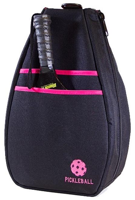 40 Love Courture Ladies Pickleball Backpacks - Black / Pink Lining
