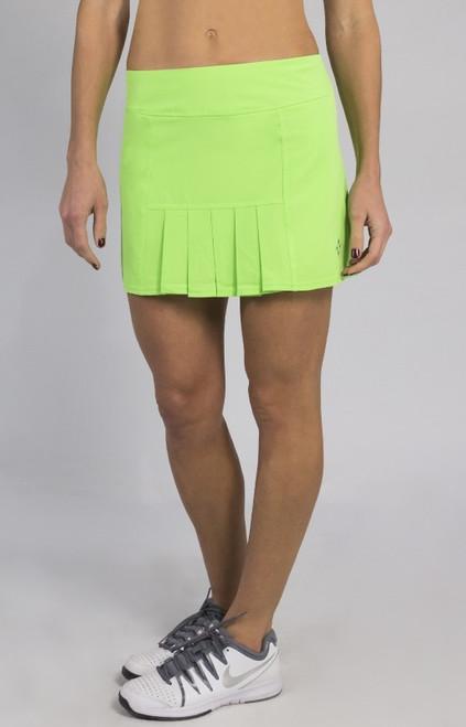 JoFit Ladies & Plus Size Dash (Short) Tennis Skorts - Mai Tai (Honeydew)