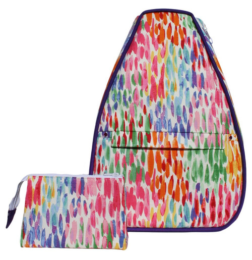 40 Love Courture Ladies Betsy Tennis Backpacks - Watercolors with Pink Lining