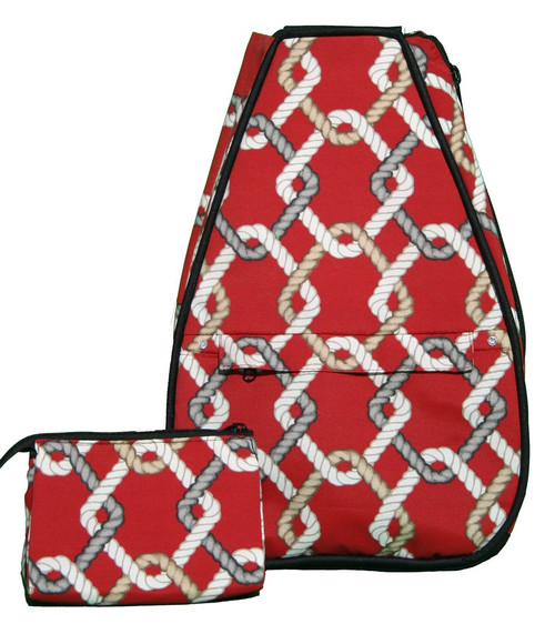 40 Love Courture Ladies Elizabeth Tennis Backpacks - Red Rope with Black Lining