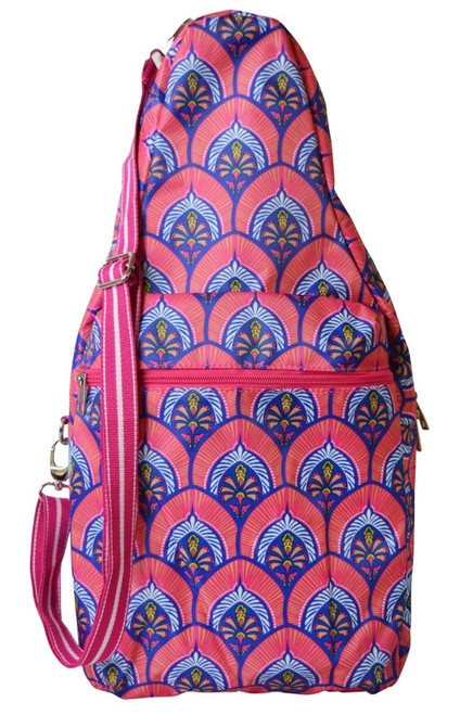 All For Color Ladies Pickleball Bags - Bali Blooms (Pink & Blue)