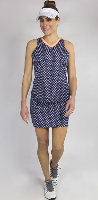 JoFit Ladies & Plus Size Tennis Outfits (Tanks & Skorts) - MADRAS (Bow Print)