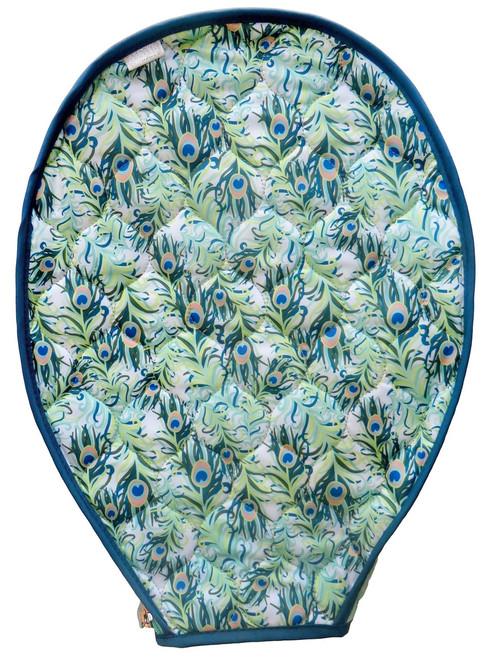 Cinda B Tennis Racquet Cover - Purely Peacock