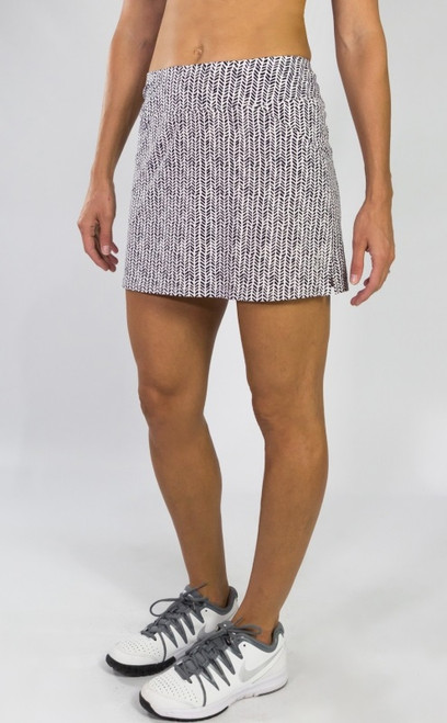 JoFit Ladies Mina (Short) Tennis Skorts - BELLINI (Herringbone)