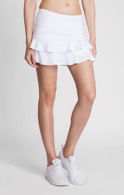 "Tail Ladies & Plus Size Doubles 13.5"" Flounce Tennis Skorts - ESSENTIALS (White)"