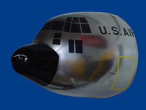 USAF C-130 (Chrome) Wall Nose