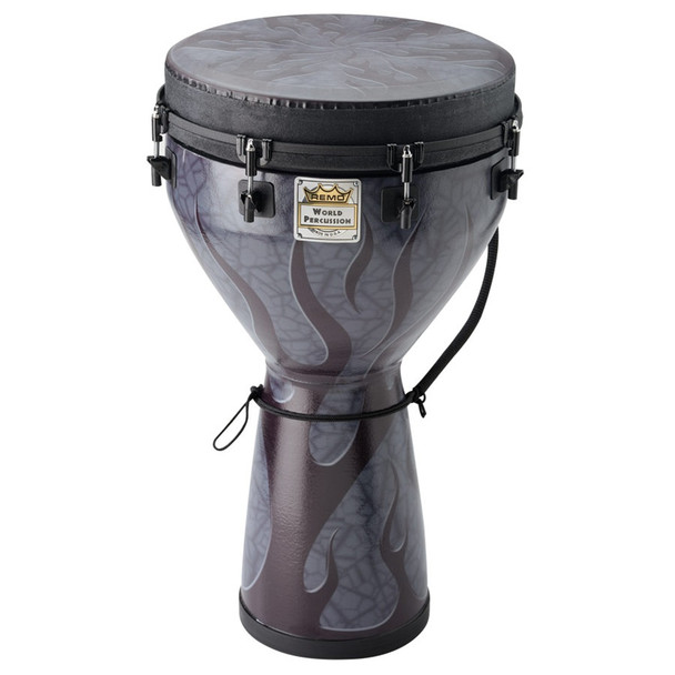 "Remo Designer Series Djembe, Key-Tuned, Shadow Flame - 14""x25"""