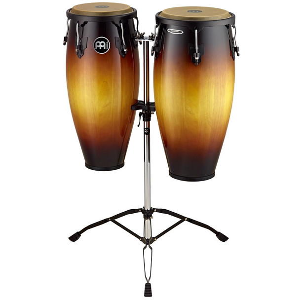 Meinl Headliner Wood Conga Set, Vintage Sunburst w/ Double Stand
