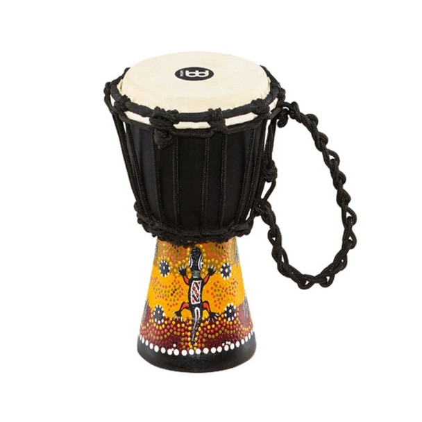 "Meinl Gecko Design Rope Tuned Mahogany Wood 4 1/2"" Mini Djembe with Goat Skin Head"