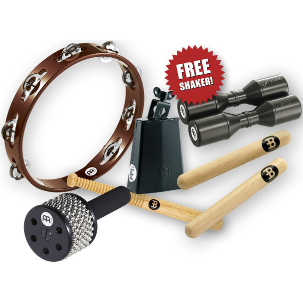 Meinl Hand Percussion Set w/ Free Shaker & Bag