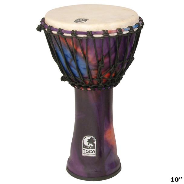 "Toca Freestyle Djembe, Woodstock Purple, 10"" Head x 20"" Tall"