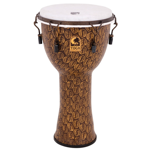Toca Freestyle 10 in. Mechanically Tuned Djembe, Gold Mask