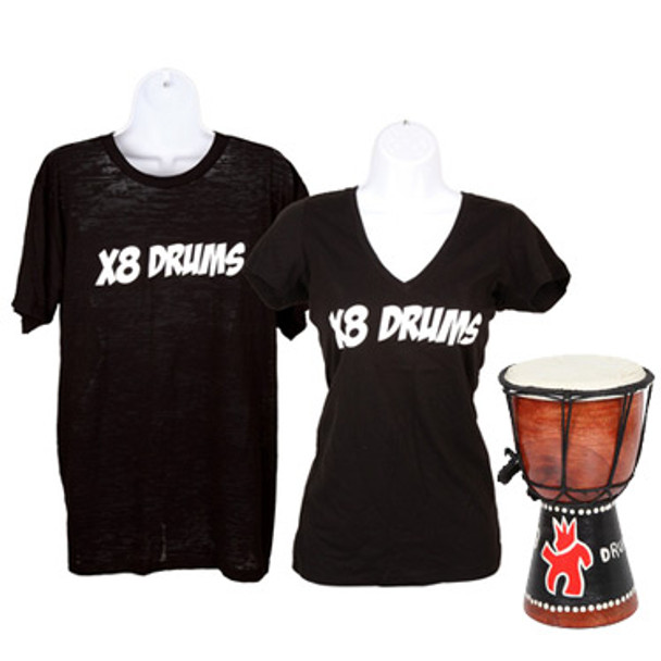 X8 Drums T-Shirt with Free Drum