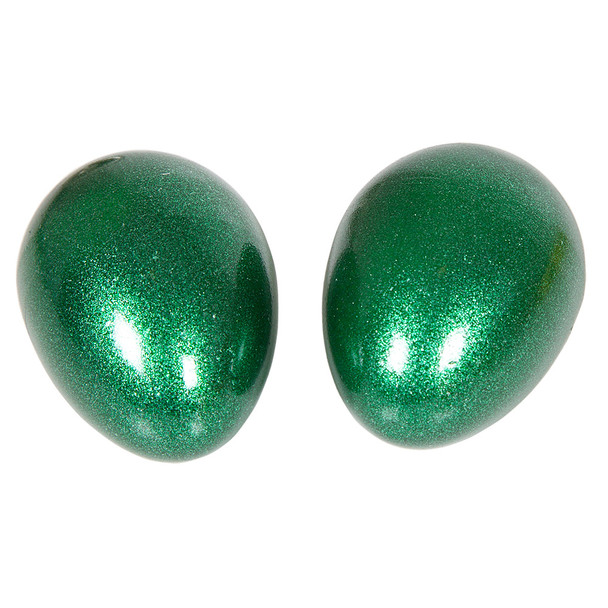 Green Sparkle Egg Shakers, Pair