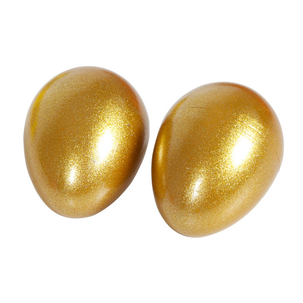 Gold Sparkle Egg Shakers, Pair