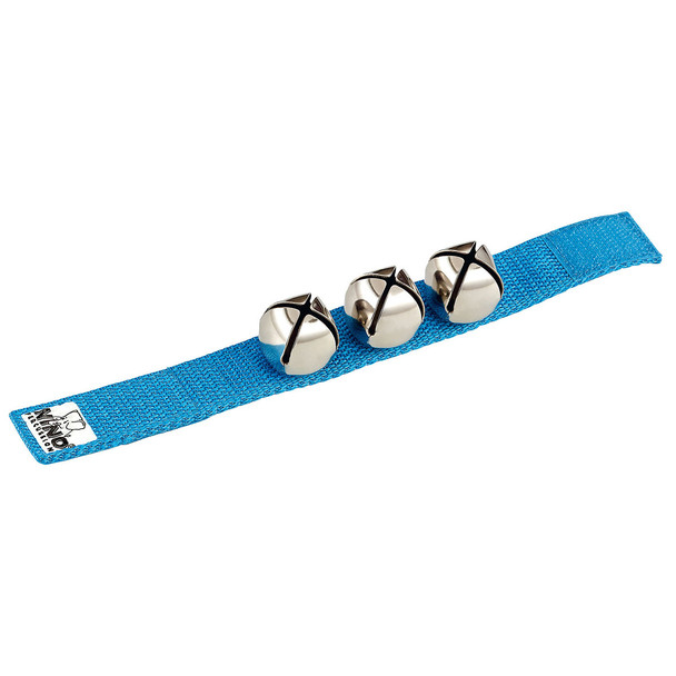 Nino 9-Inch Wrist Strap with 3 Bells, Blue