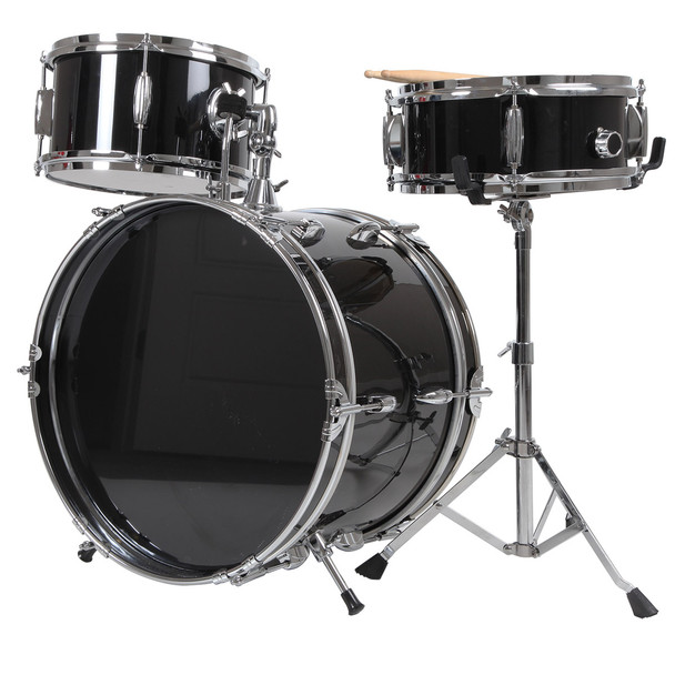 X8 Drums 3-Pc Junior Drum Kit, Black