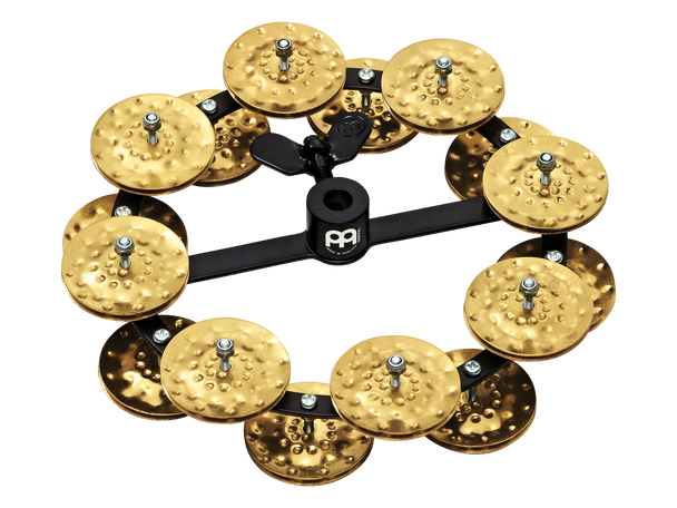 Headliner Series Hi-Hat Tambourines, Hammered Brass - 2 Rows