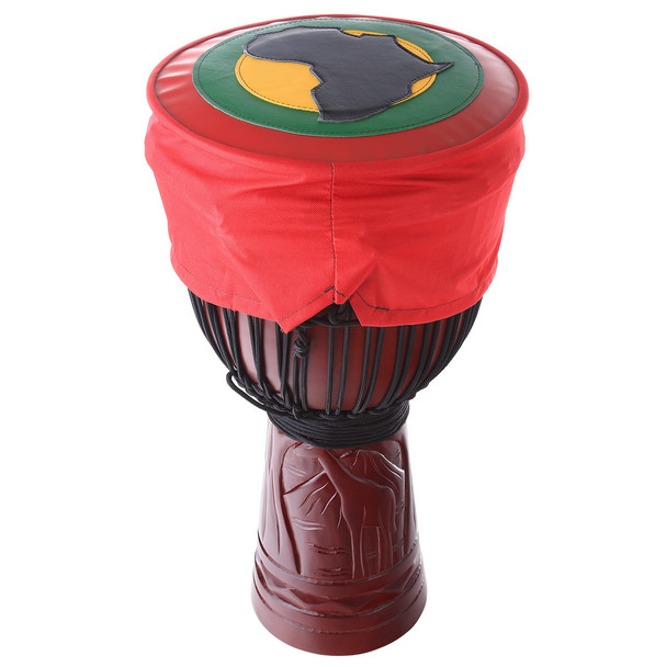 Hard Top Djembe Hat with Africa Continent