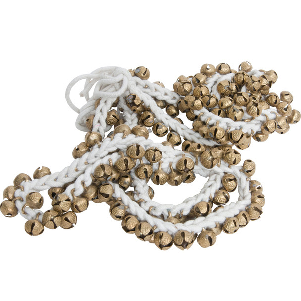 Mid-East String of 100 Round Ankle Bells - Pair