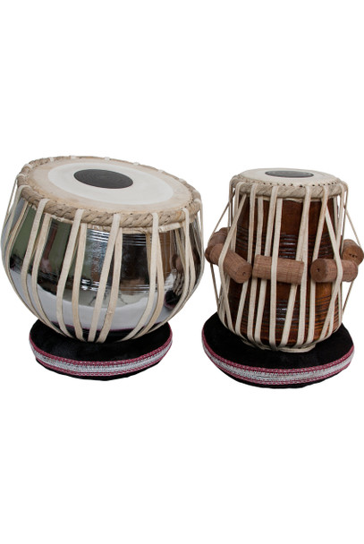 "banjira Pro Tabla Set Nickel Plated Brass Bayan and 5.50"" Dayan"